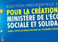 2017 – Appel pour un vrai Ministère de l'Economie Sociale et Solidaire